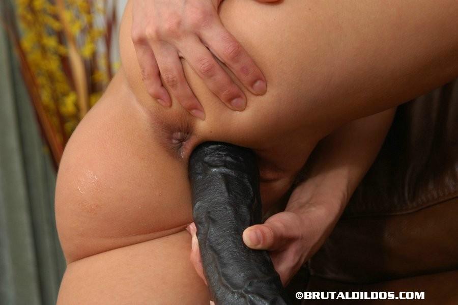 Thick dildo penetration